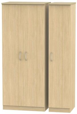 Avon Light Oak Triple Plain Wardrobe