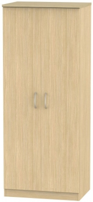 Avon Light Oak Wardrobe - 2ft 6in Plain