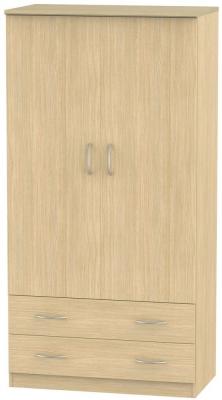 Avon Light Oak Wardrobe - 3ft 2 Drawer