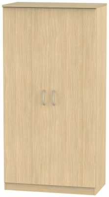 Avon Light Oak Wardrobe - 3ft Plain
