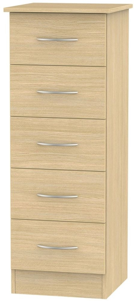 Avon Light Oak Chest of Drawer - 5 Drawer Locker