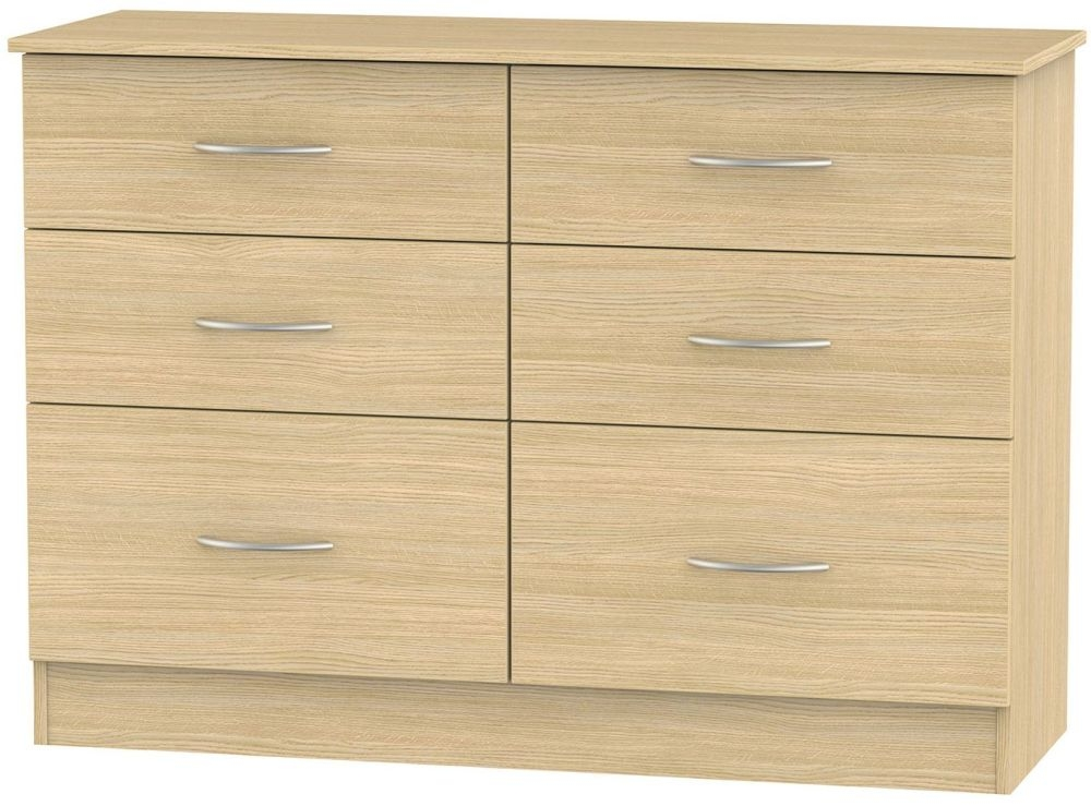 Avon Oak 6 Drawer Midi Chest