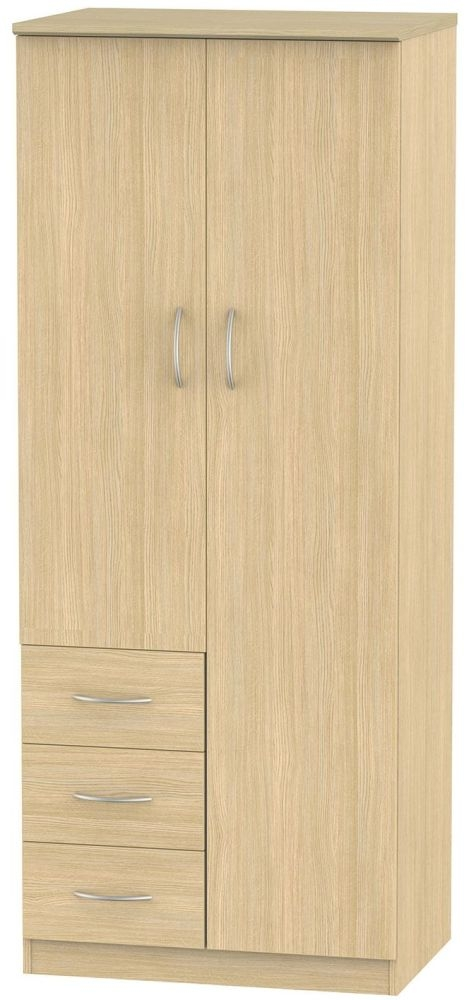Avon Oak 2 Door 3 Drawer Wardrobe