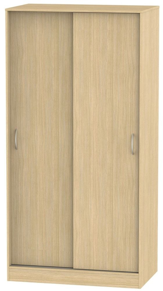 Avon Light Oak Sliding Wardrobe - Wide