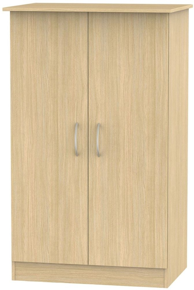 Avon Light Oak Wardrobe - 2ft 6in Plain Midi