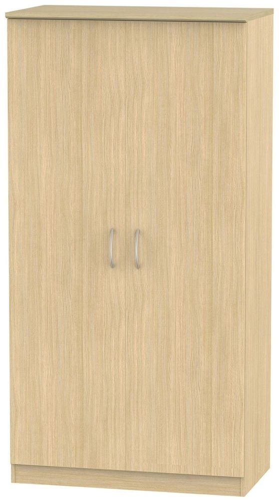 Avon Light Oak 2 Door Plain Double Wardrobe