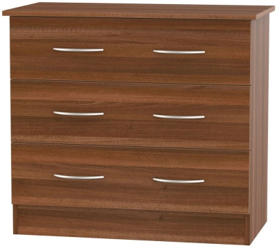 Avon Noche Walnut Chest of Drawer - 3 Drawer