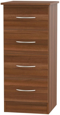 Avon Noche Walnut Chest of Drawer - 4 Drawer Locker