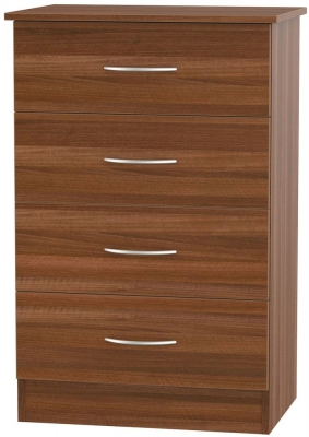 Avon Noche Walnut 4 Drawer Midi Chest