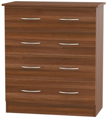 Avon Noche Walnut Chest of Drawer - 4 Drawer