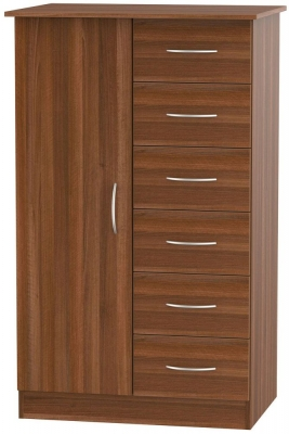 Avon Noche Walnut 1 Door Children Wardrobe