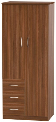 Avon Noche Walnut 2 Door 3 Drawer Wardrobe