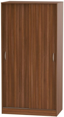 Avon Noche Walnut 2 Door Sliding Wardrobe