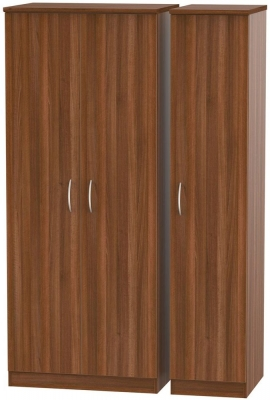 Avon Noche Walnut 3 Door Wardrobe