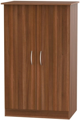 Avon Noche Walnut Wardrobe - 2ft 6in Plain Midi