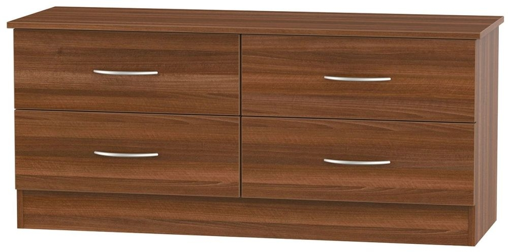 Avon Noche Walnut Bed Box - 4 Drawer