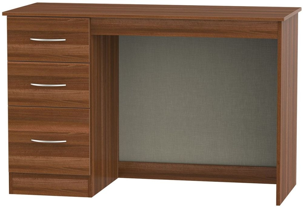 Avon Noche Walnut Desk - 3 Drawer