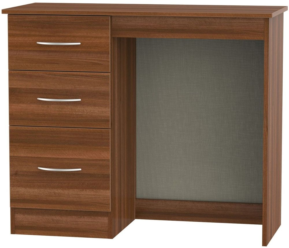 Avon Noche Walnut Dressing Table - Vanity Knee Hole