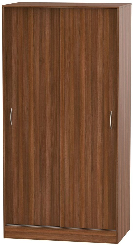 Avon Noche Walnut Sliding Wardrobe - Wide