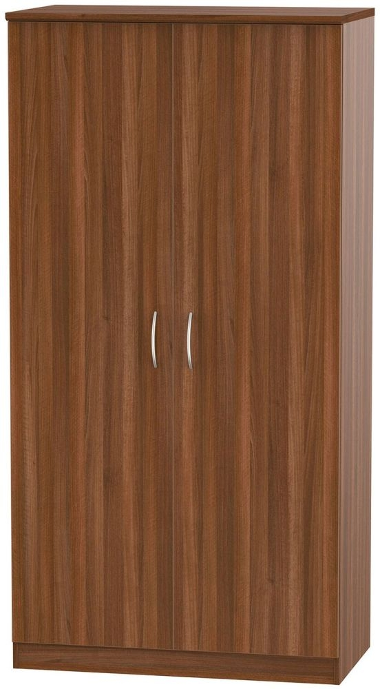 Avon Noche Walnut 2 Door Plain Wardrobe