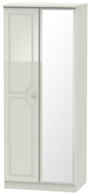 Balmoral High Gloss Kaschmir 2 Door Mirror Wardrobe