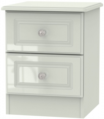 Balmoral High Gloss Kaschmir 2 Drawer Bedside Cabinet