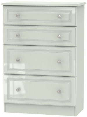 Balmoral High Gloss Kaschmir 4 Drawer Deep Chest