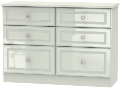 Balmoral High Gloss Kaschmir 6 Drawer Midi Chest