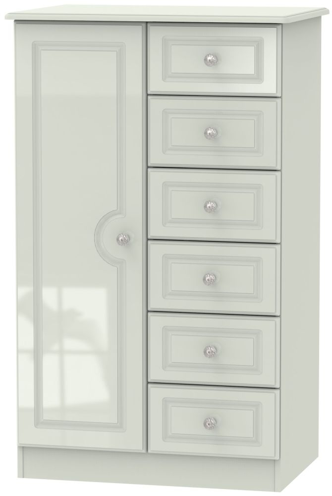 Balmoral High Gloss Kaschmir 1 Door Children Wardrobe