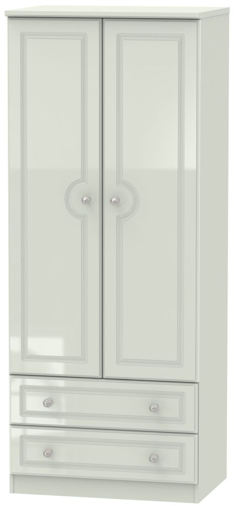 Balmoral High Gloss Kaschmir 2 Door 2 Drawer Wardrobe