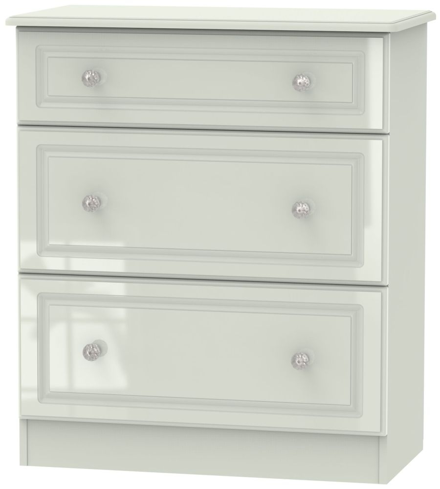 Balmoral High Gloss Kaschmir 3 Drawer Deep Chest