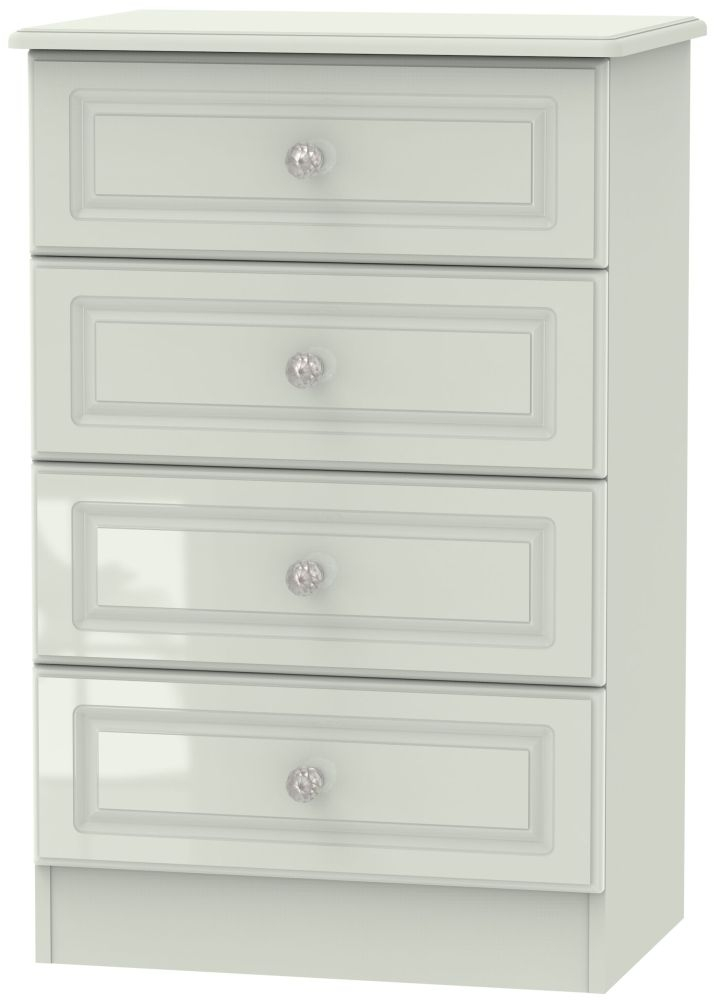 Balmoral High Gloss Kaschmir 4 Drawer Midi Chest