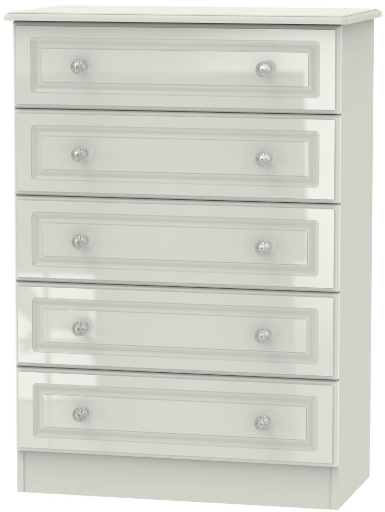 Balmoral High Gloss Kaschmir 5 Drawer Chest