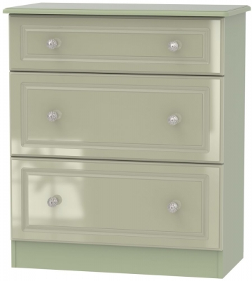 Balmoral High Gloss Mushroom 3 Drawer Deep Chest