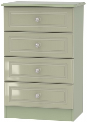 Balmoral High Gloss Mushroom 4 Drawer Midi Chest