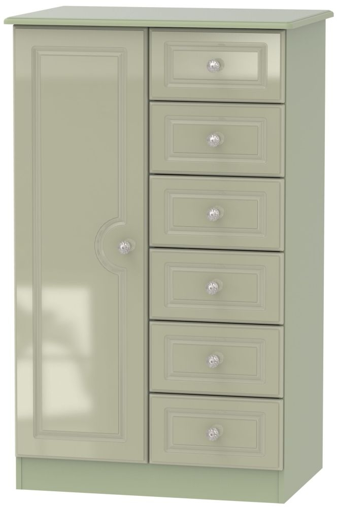 Balmoral High Gloss Mushroom 1 Door Children Wardrobe