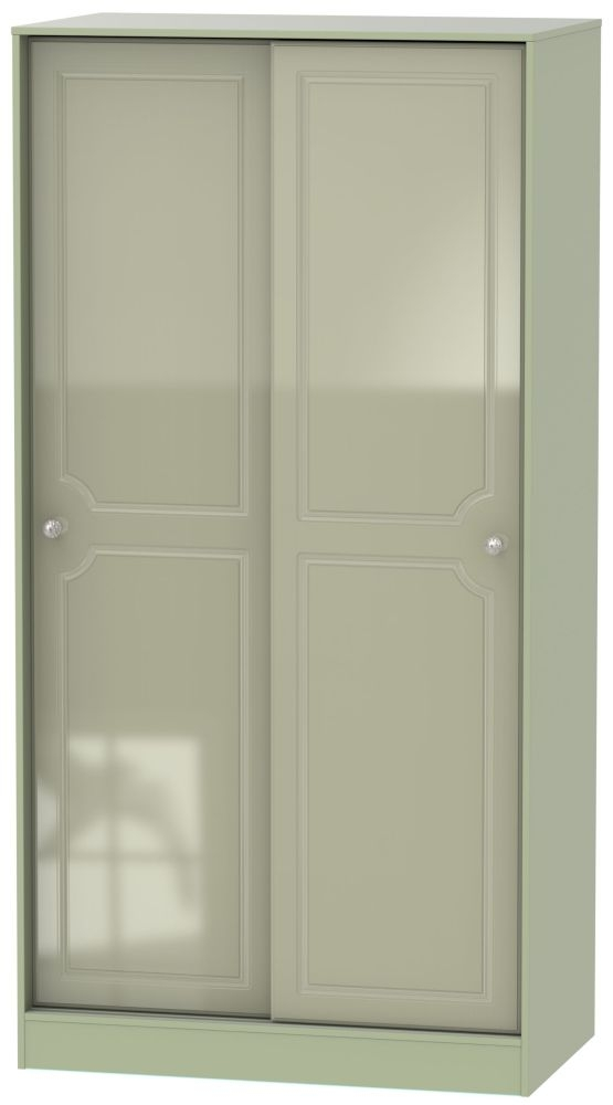 Balmoral High Gloss Mushroom 2 Door Sliding Wardrobe