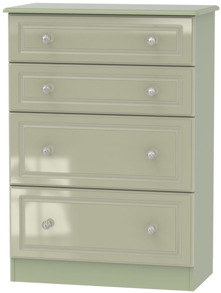Balmoral High Gloss Mushroom 4 Drawer Deep Chest