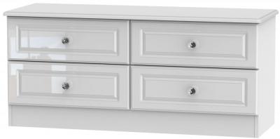Balmoral High Gloss White Bed Box