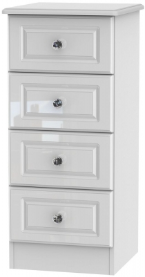 Balmoral High Gloss White 4 Drawer Tall Chest