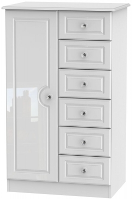 Balmoral High Gloss White 1 Door Children Wardrobe