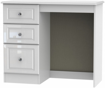 Balmoral High Gloss White Single Pedestal Dressing Table