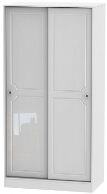 Balmoral High Gloss White 2 Door Sliding Wardrobe