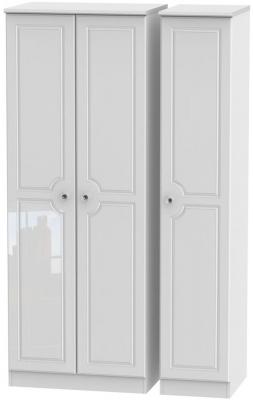 Balmoral High Gloss White 3 Door Tall Wardrobe