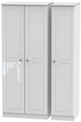 Balmoral High Gloss White 3 Door Wardrobe