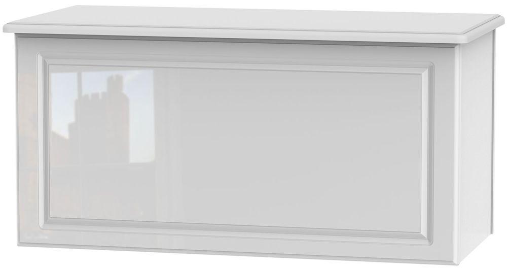 Balmoral High Gloss White Blanket Box