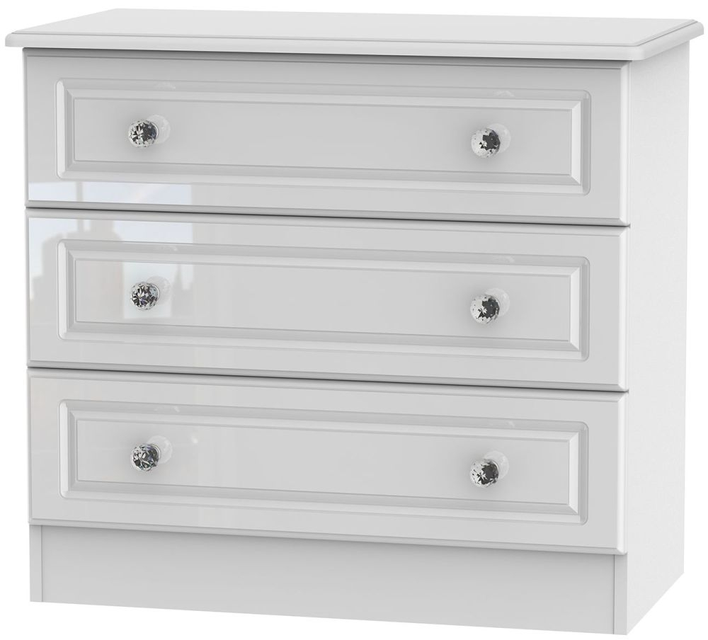 Balmoral High Gloss White 3 Drawer Chest