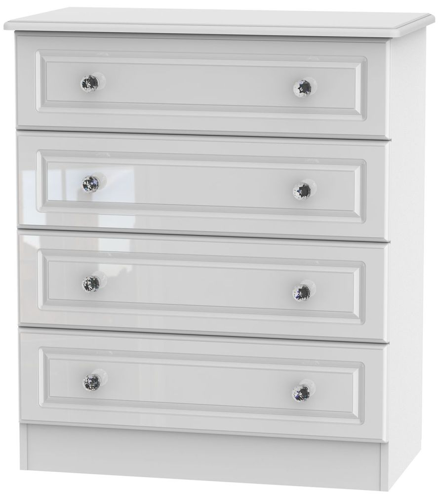 Balmoral High Gloss White 4 Drawer Chest
