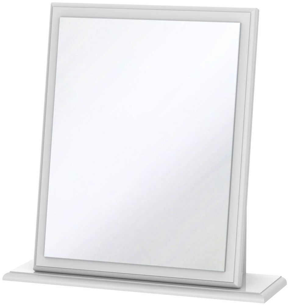 Balmoral Dressing Table Mirror White High Gloss Small Mirror
