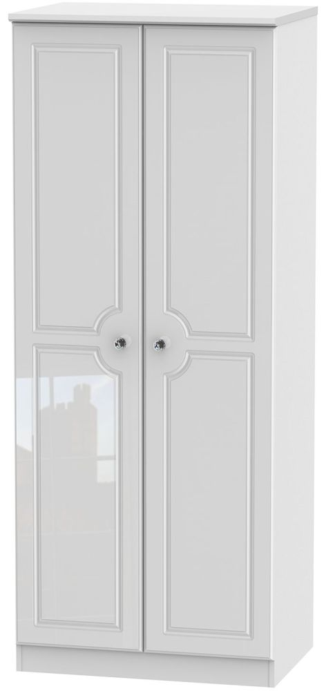 Balmoral High Gloss White 2 Door Wardrobe